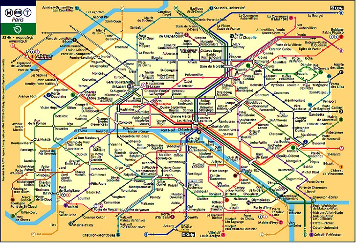 Carte de Paris du jour ¤¤¤